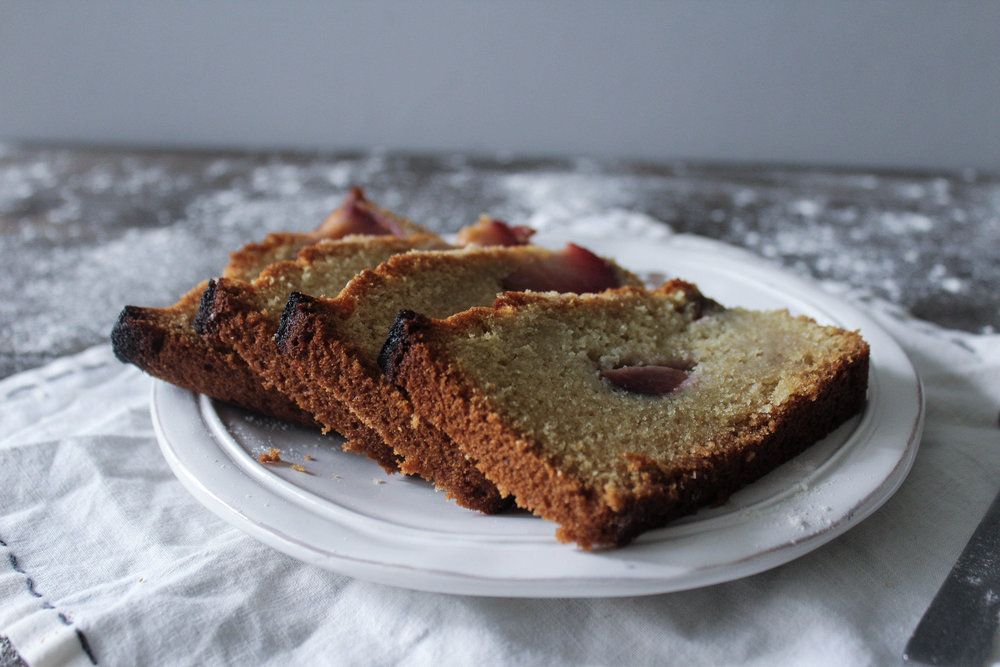 Almond Plum Loaf