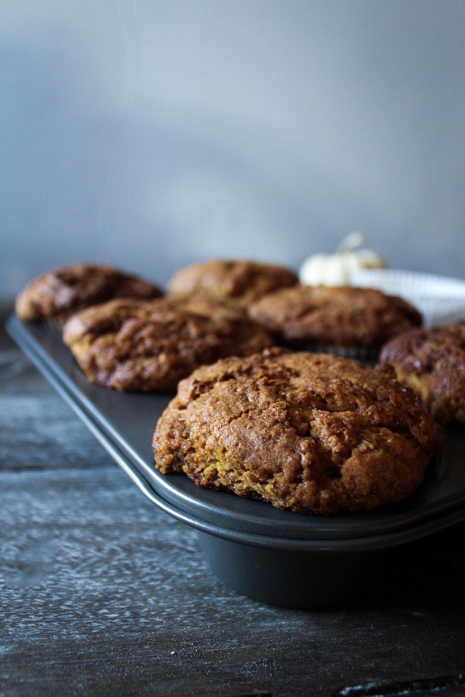 Pumpkin Tahini Muffins
