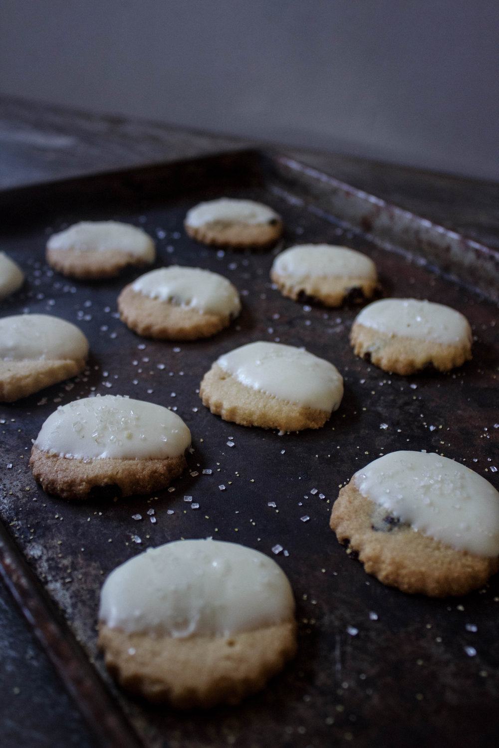 Cornmeal and Cherry Shortbread Cookies