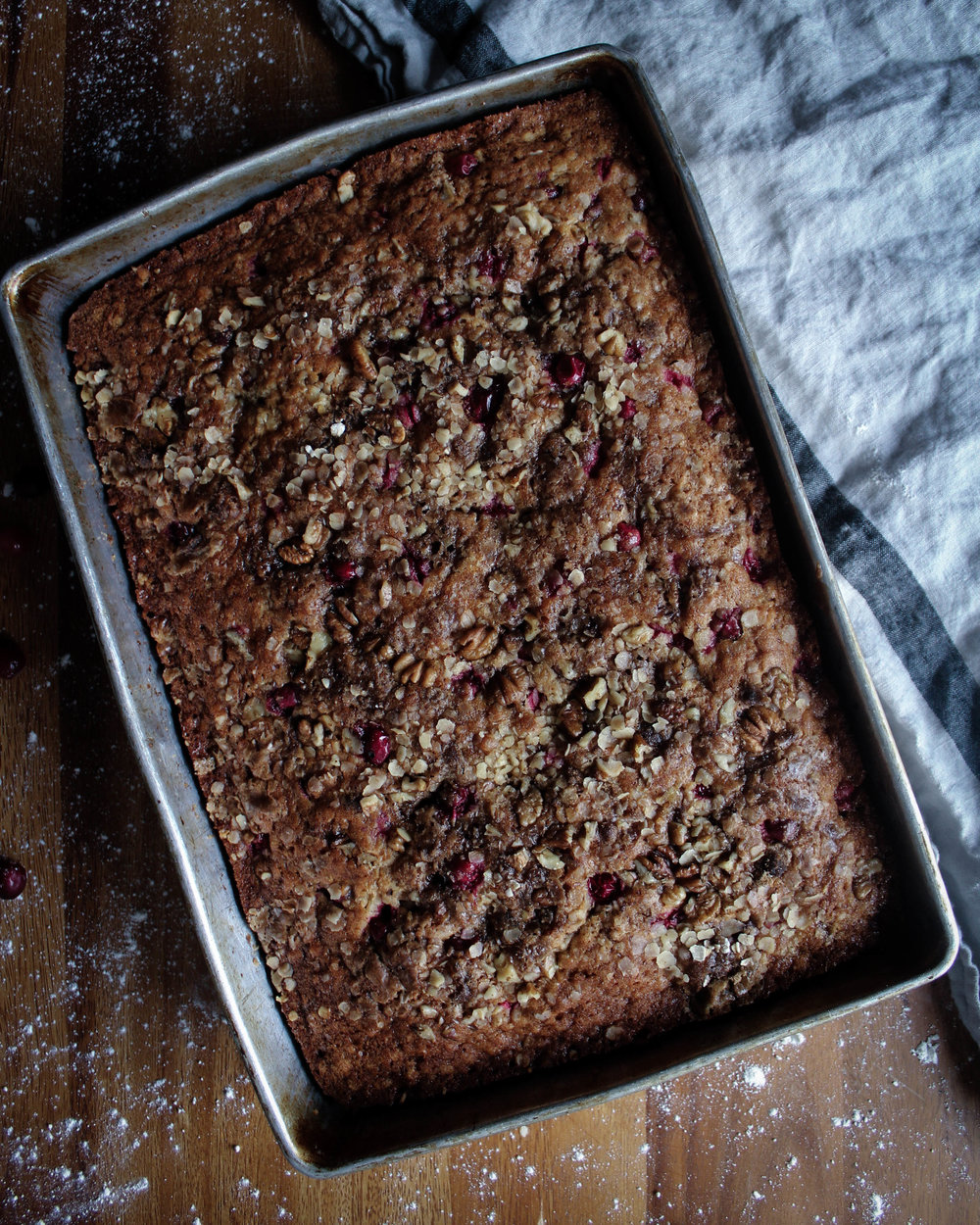 Cranberry Oatmeal Cake
