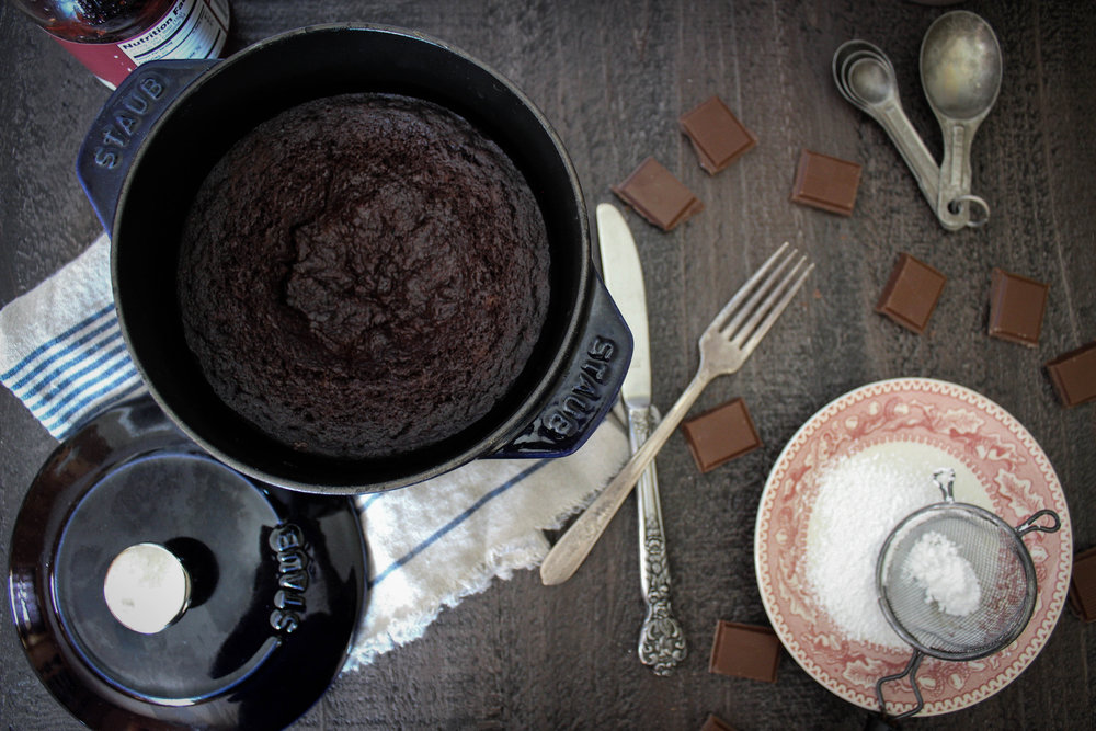 Dutch Oven Chocolate Cake with Staub