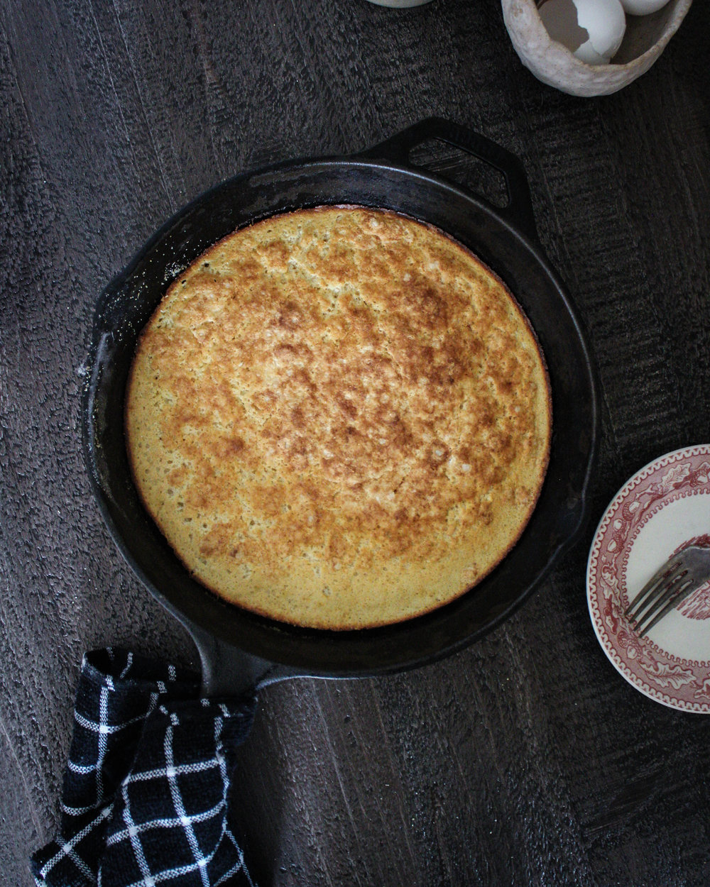 "Toasted Cornmeal ""Dutch Pancake"""