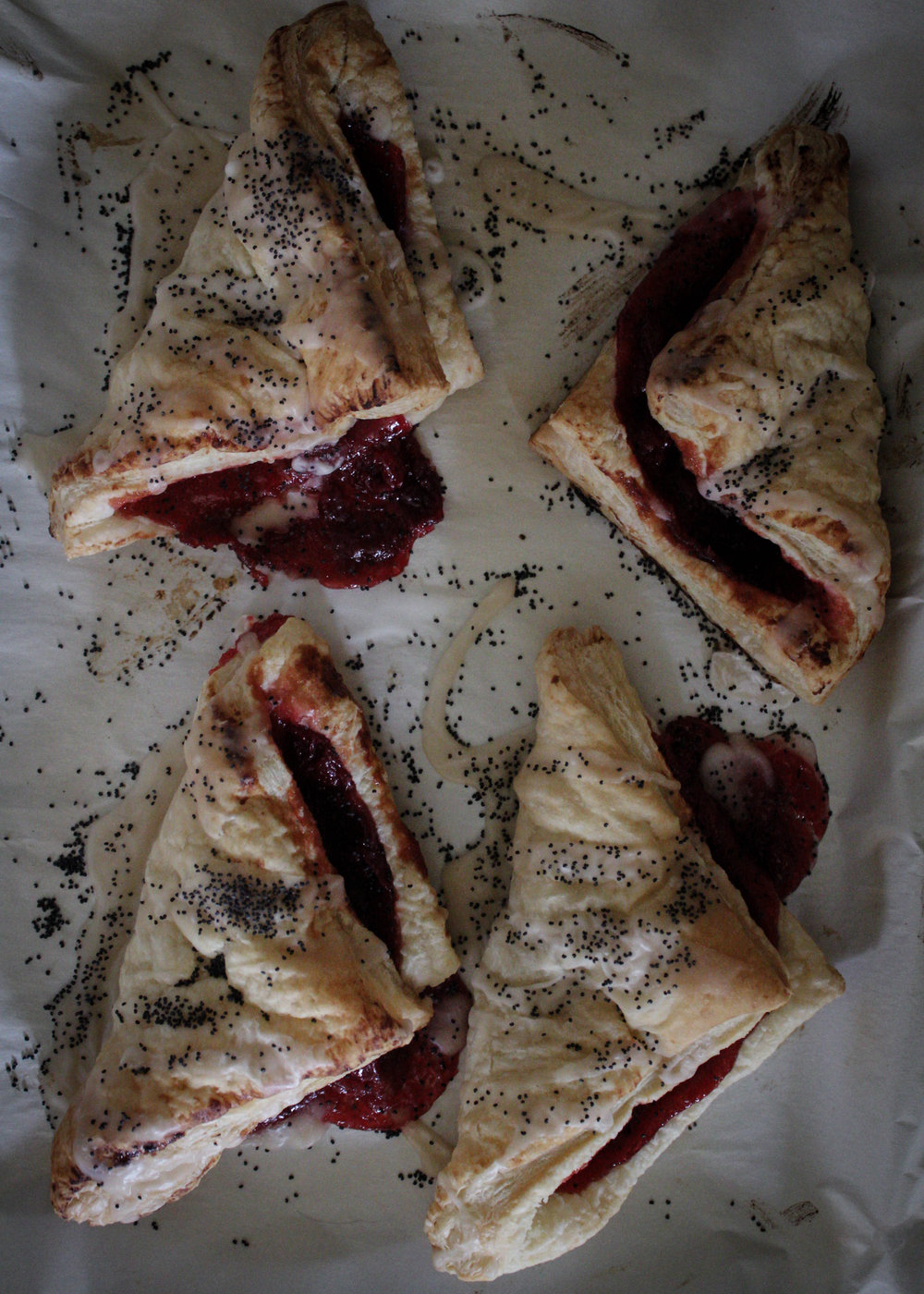 Cherry Lemon Poppyseed Turnover