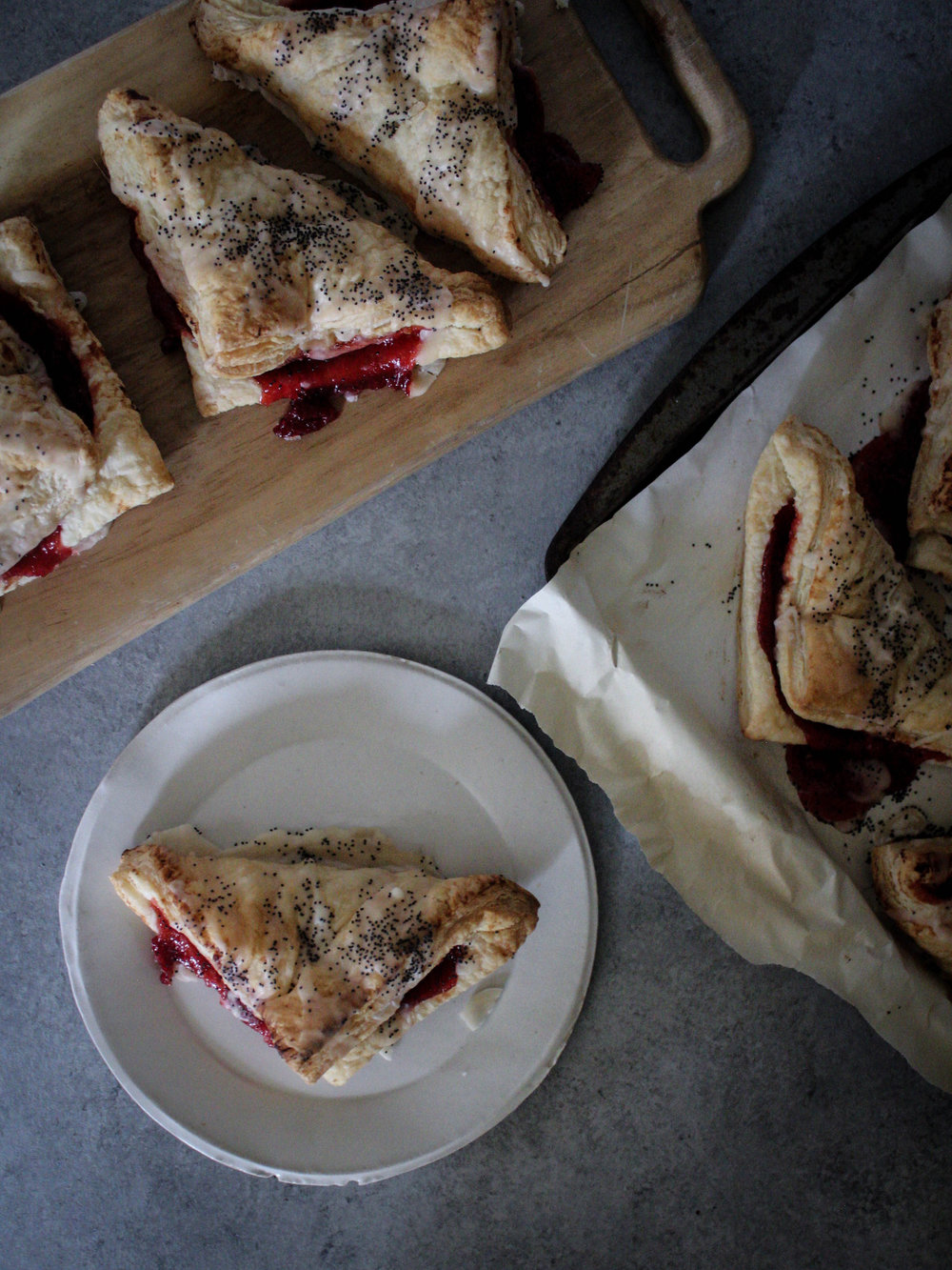Cherry Lemon Poppyseed Turnovers