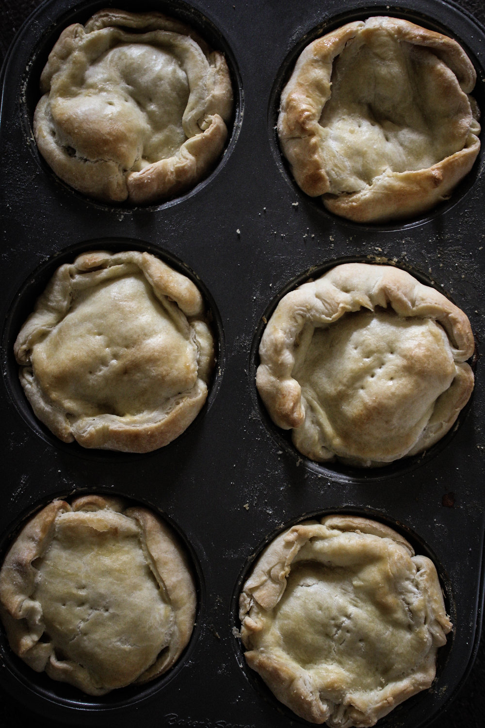 Chicken and Lentil Mini Pot Pies!