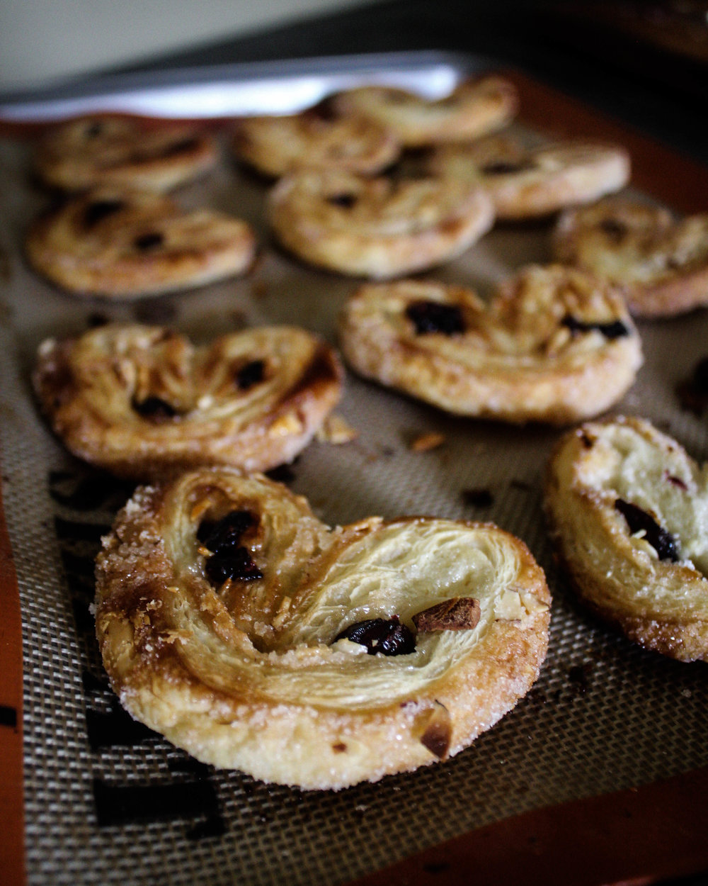 Cherry Almond Palmiers