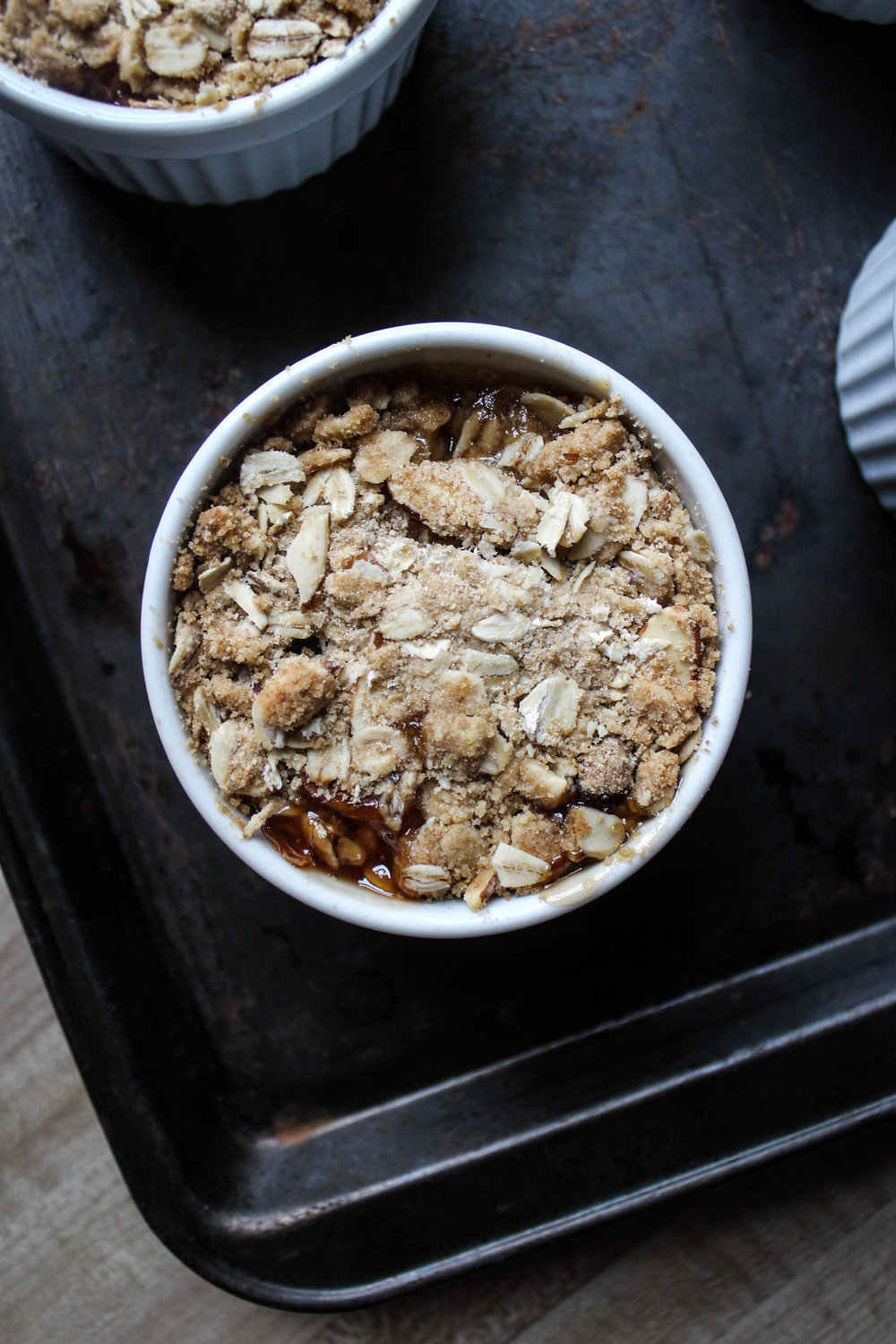 White Peach White Wine Mini Cobbler