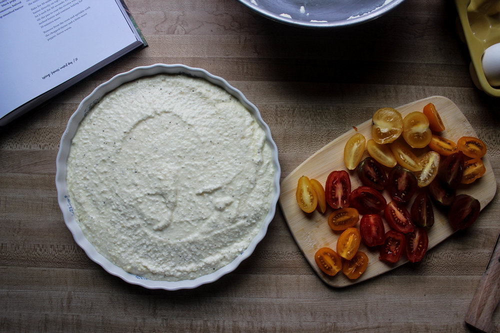 Baked Ricotta and Tomatoes with Thyme Butter