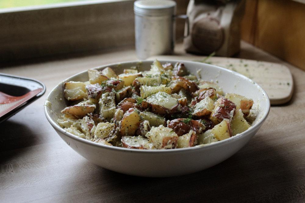 Roasted Dill Potato Salad