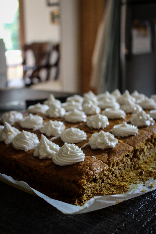 Pumpkin Tahini Snack Cakes