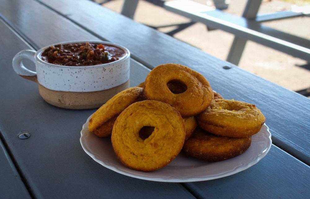 Pumpkin Cornbread Donuts
