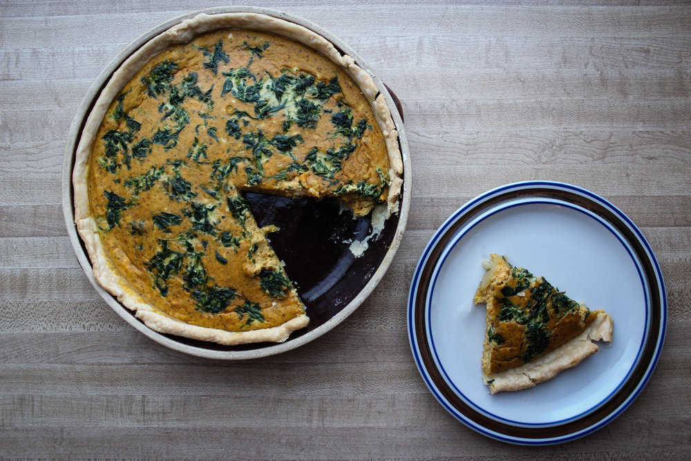 Curry Pumpkin Quiche