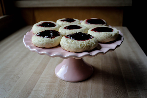 Giant Jammy Thumbprint Cookies