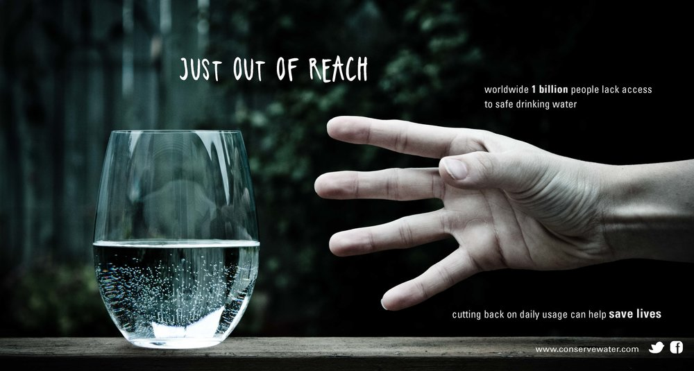 "Alternate photographic poster idea no.1.  Slogan: ""just out of reach"""