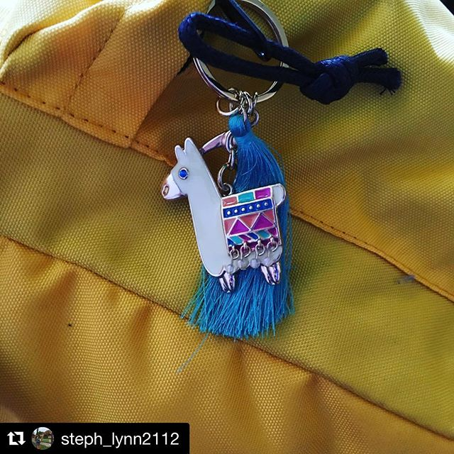 #Repost @steph_lynn2112 with @get_repost ・・・ When you and one of your best friends get matching keychains - it's a whole new level of friendship. @kaitlynanne13 #llama #keychain #friendship #happyllama #backpackaccessories #bffgoals #bffs #2018 #yarnheads