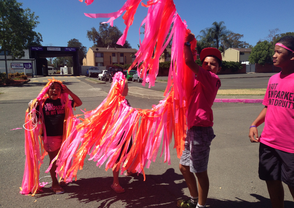 Image #4 Funpark, Sydney Festival, 2014 Children assisting decorations and decor design in Bidwill Carpark