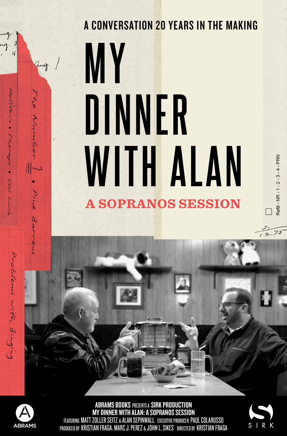 My Dinner with Alan -  Movie Poster: Abrams Books x SIRK