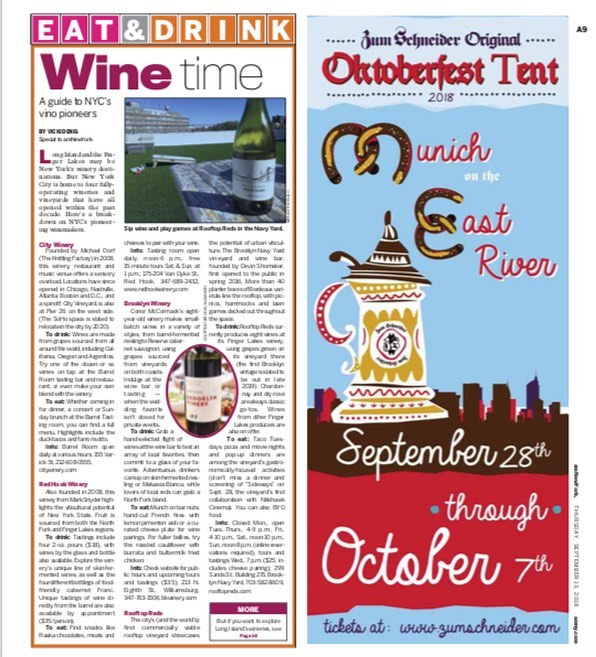 @rooftopreds and @villagevinesbk were featured today @amnewyork! The article also showcased the Village Vines fundraiser with @nitehawkcinema on September 28th! Tickets are still available in our bio! #grapesforgood
