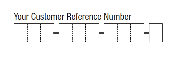 Figure 7: This text field from an Australian Centrelink form uses character separators to help form-fillers enter their customer number. Chunking makes the field even easier to fill in