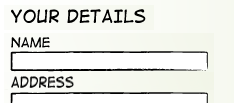 Figure 1: This form has just a single field for collecting name; form-fillers can enter their name however they like.