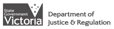 Victorian Department of Justice and Regulation logo