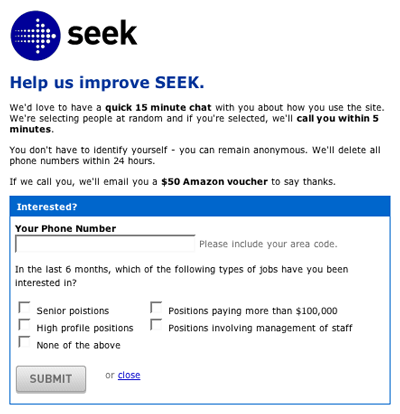 Figure 1: Invitation used to recruit research participants.