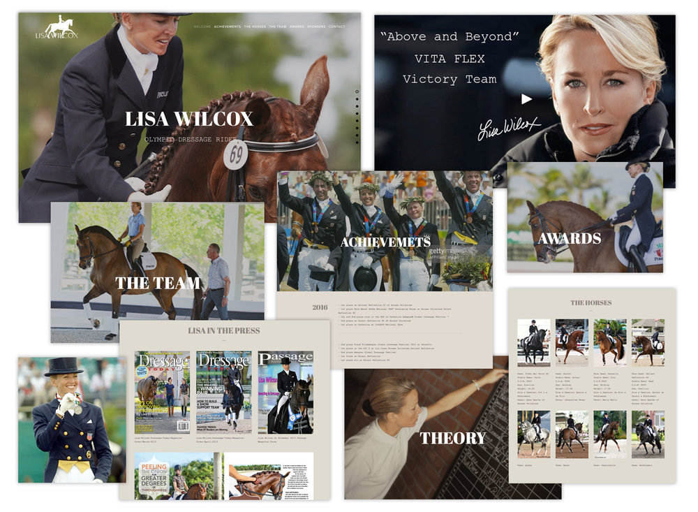 Lisa Wilcox Dressage Website Design by AjenC