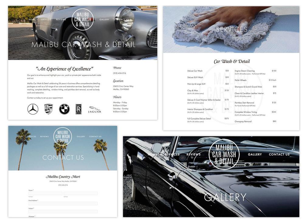 Malibu Car Wash & Detail Website Design by AJENC