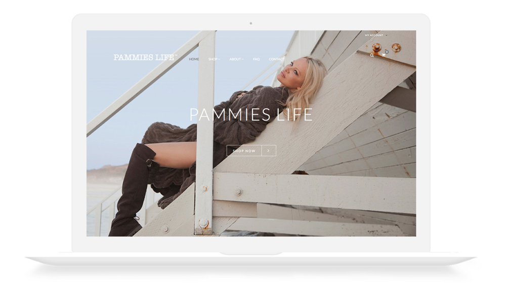Pammies Life | Pamela Anderson | Website Design