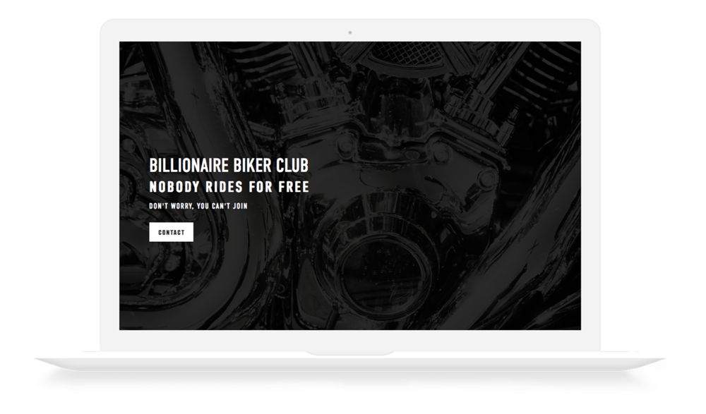 Billionaire Biker Club Website Design by Ajenc
