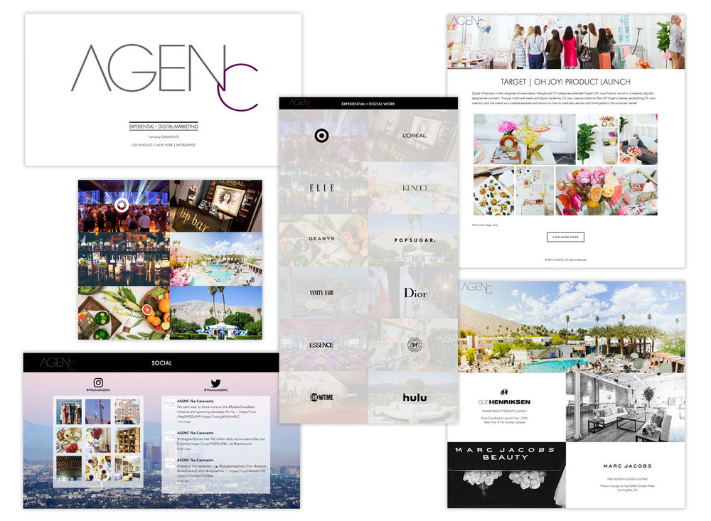 AGENC Experiential Design Website Design and Development by AjenC