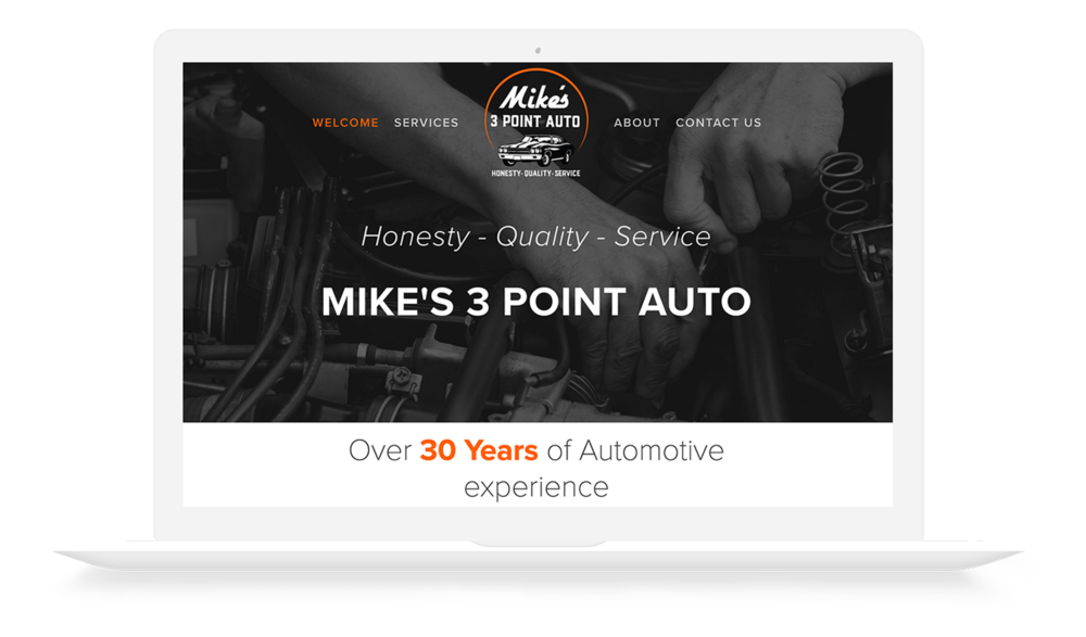 Mike's 3 Point Auto Website Design by Ajenc