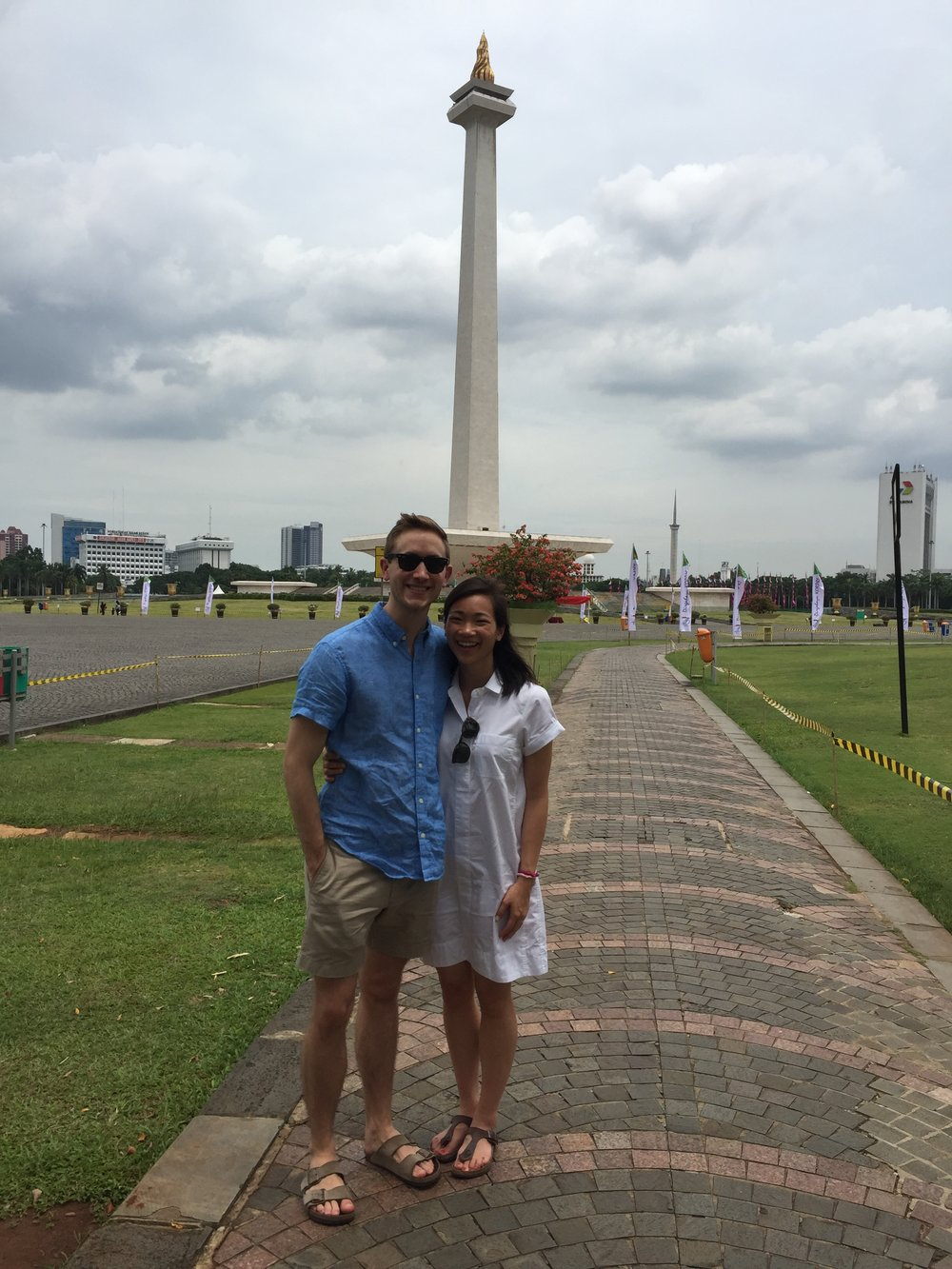 At the Indonesian National Monument