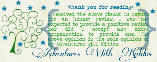 Adventures With Kiddos Review Disclaimer