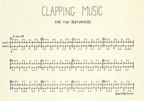 Partitura original de Clapping Music.