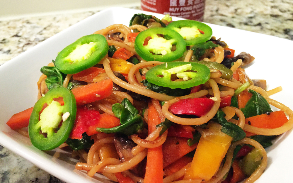 |Dinner| Veggie Lo Mein with gluten-free noodles
