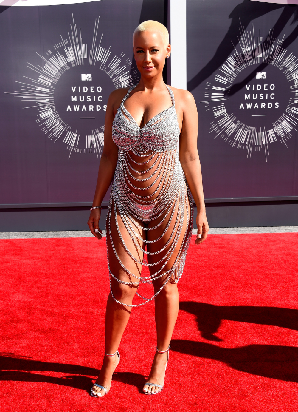 Amber Rose in custom Laurel DeWitt - 2014 VMA