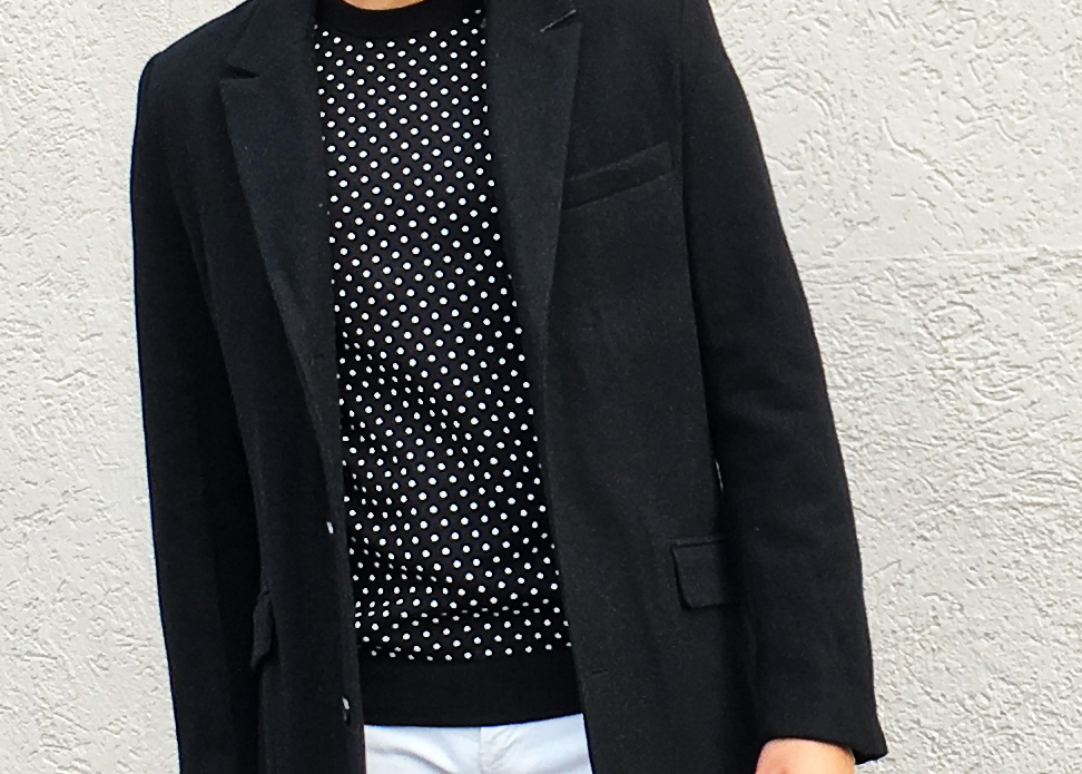 sam-c-perry-menswear-white-pants-winter-hm-overcoat-hm-polkadot-sweater