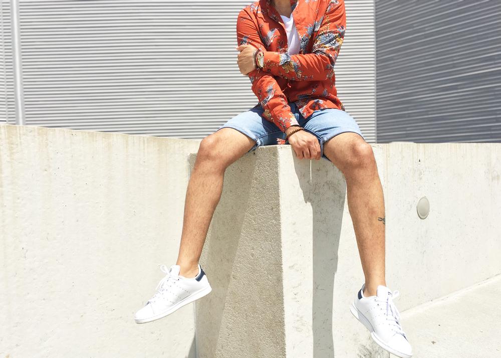 sam-c-perry-printed-Mandarin-collar-woven-denim-shorts-cropped.jpg