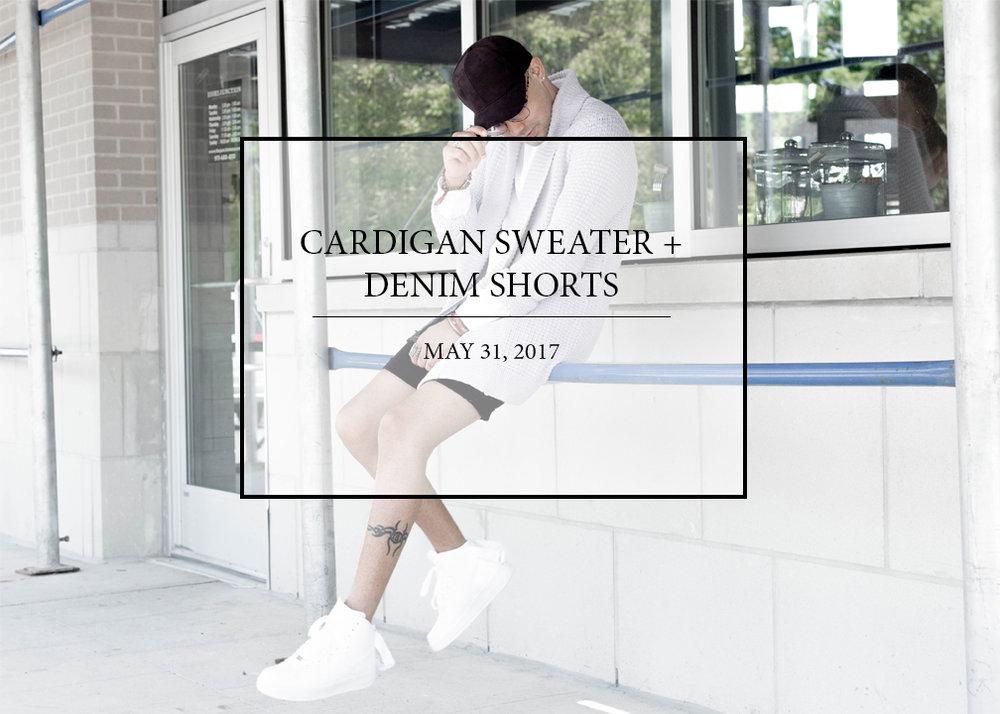 cardigan-sweater-distressed-denim-shorts.jpg