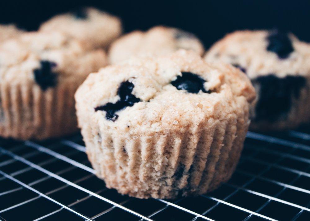 Easy Gluten-Free Blueberry Muffins -