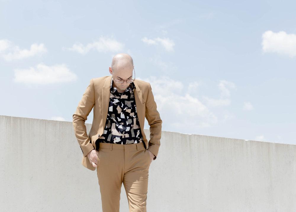 Topman Suit + Torn Paper Print S/S Woven -