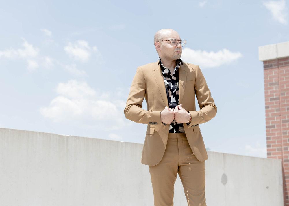 Topman Suit + Torn Paper Print Woven -