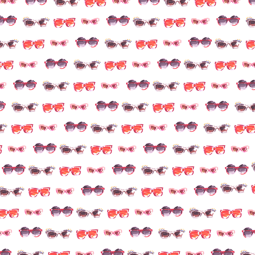 Pattern4. Sunglasses(Red)