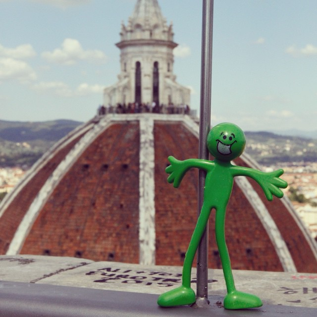 #leonard climbed all 423 steps up the bell tower and almost got blown off the edge for this picture. He would have really seen what #lifeovertheedge was like #compasstales #italy #duomo #lifeote