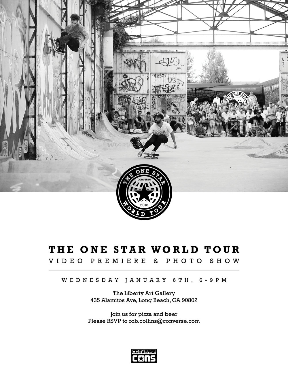 One Star World Tour Show Invitation