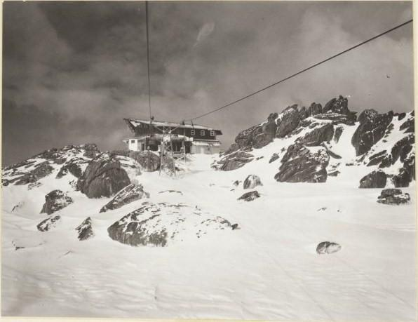 Mid station of the ill fated chairlift between Thredbo Valley and Charlotte Pass (1964 - 65)