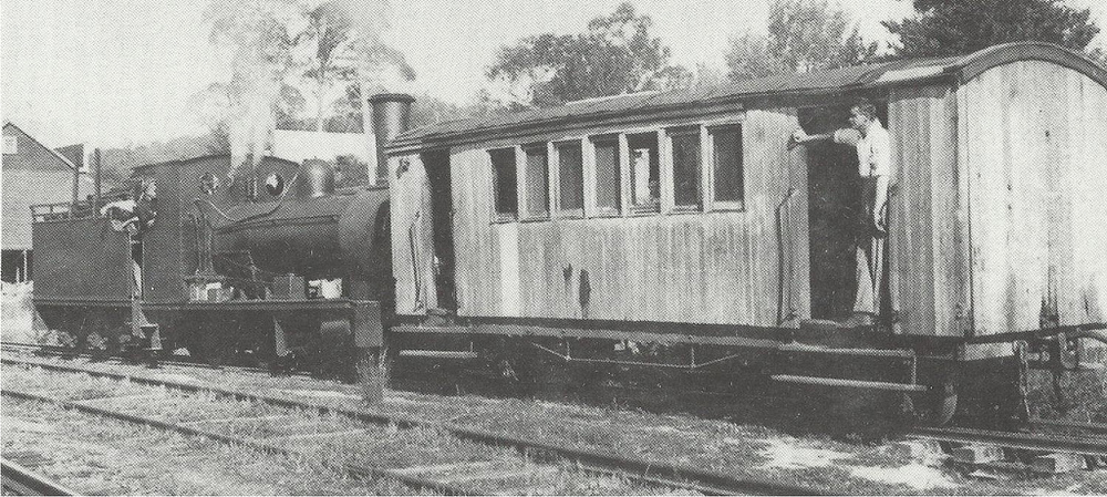 The Powelltown passenger train.