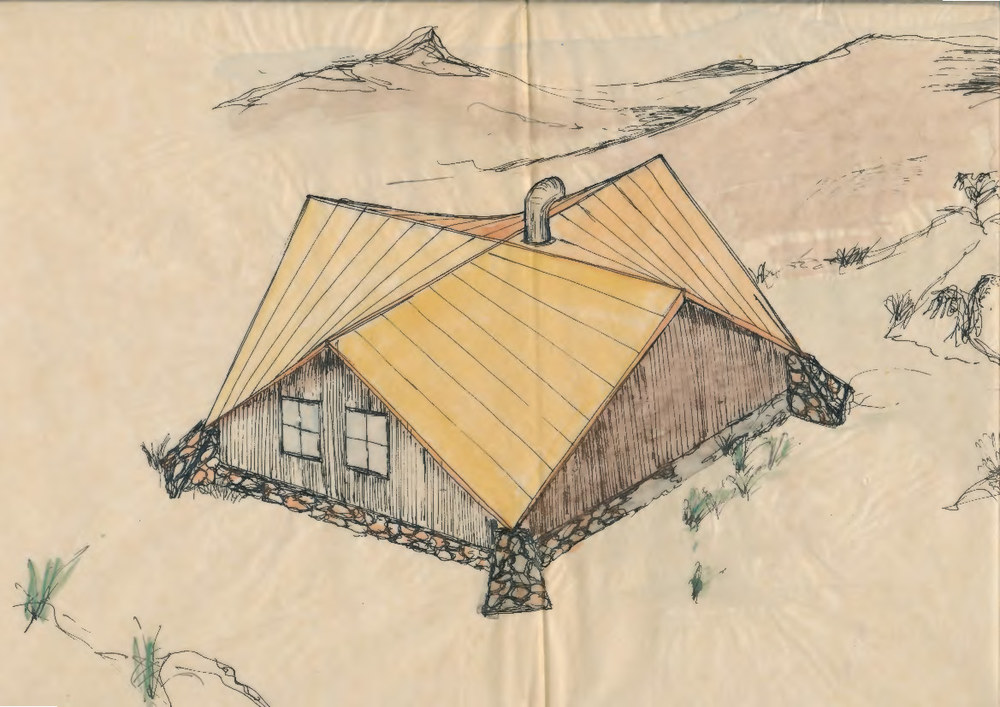 A second proposed design for MUMC Hut,  © Peter Kneen. Used with permission.