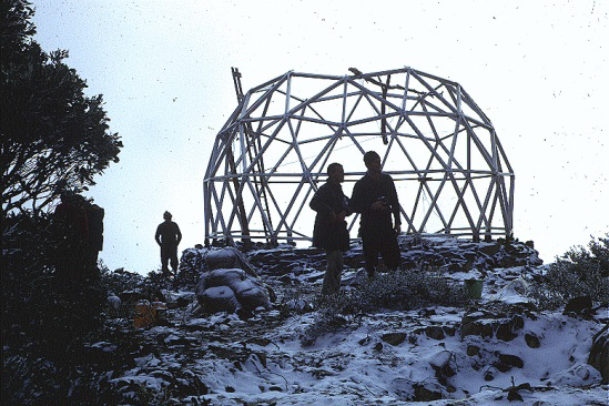 Easter 1966 – a bit of snow but the frame was ready to take the top section.